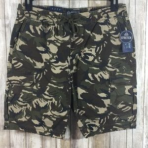 American Rag camouflage pull on stretch shorts M
